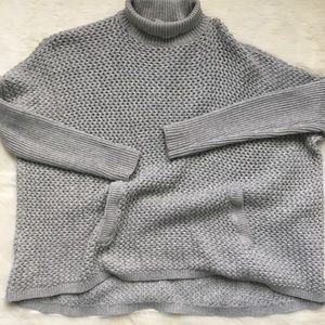 LOFT ribbed turtleneck sweater with pockets, XS